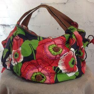 Jasper & Jeera Beaded Floral Canvas Tote Bag
